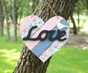 Shabby Chic Wood Heart Decor