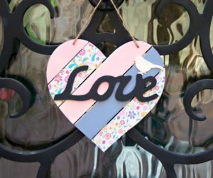 Shabby Chic Wood Heart Decor