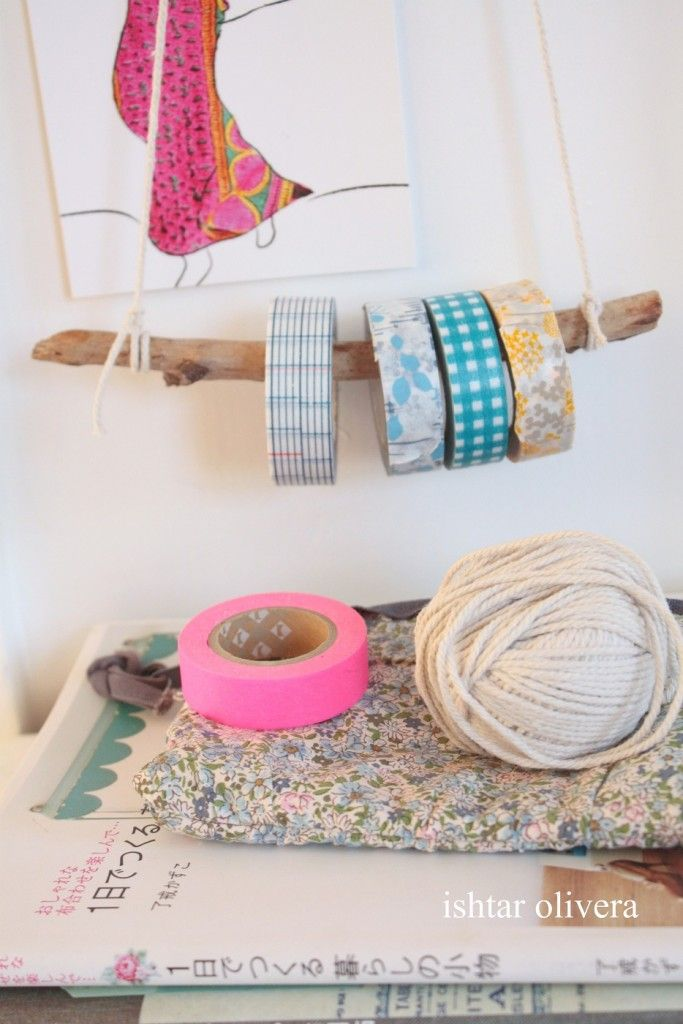 Simple and casual washi tape hanger