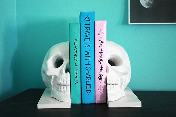Skull bookends DIY