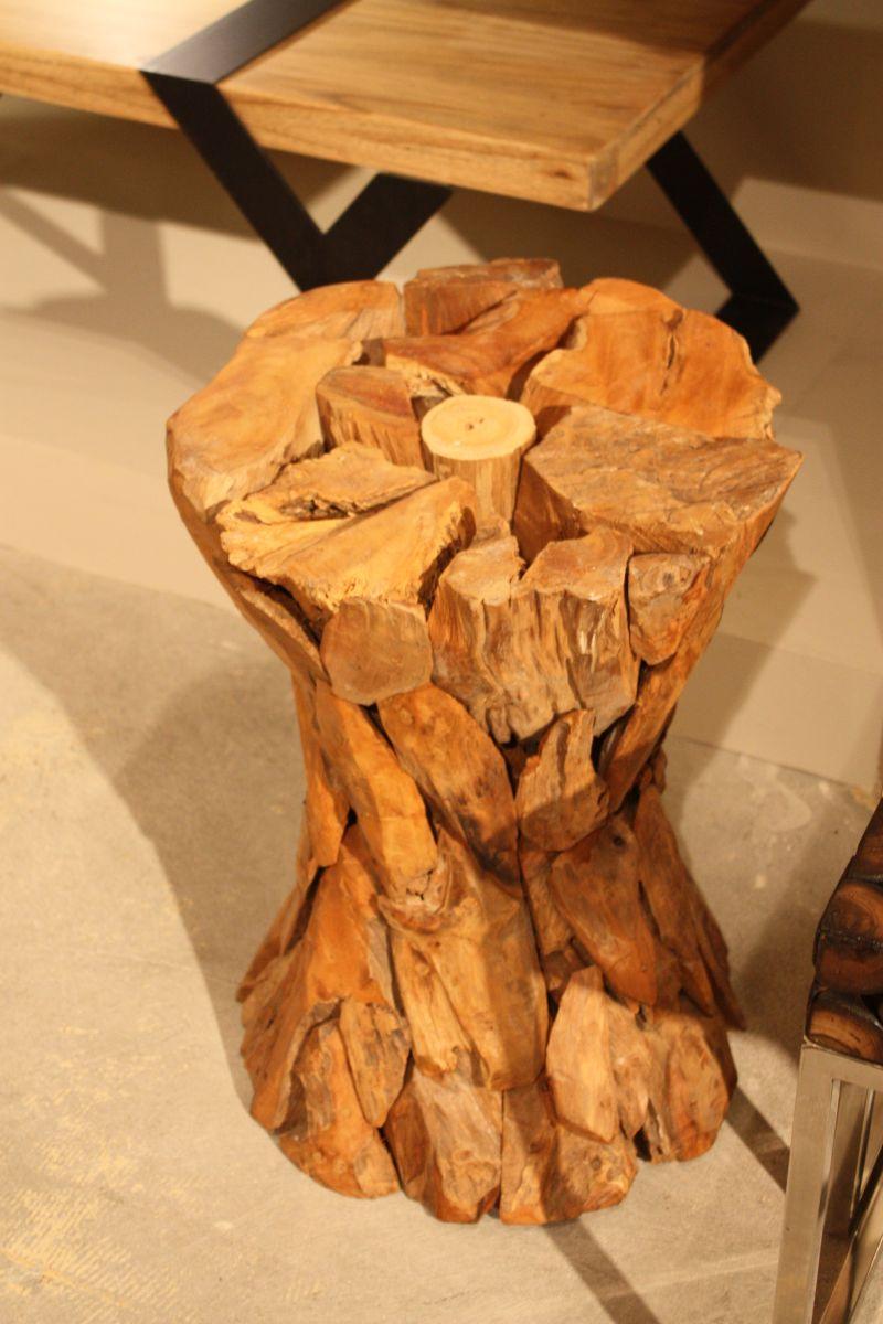Stool wood slab table