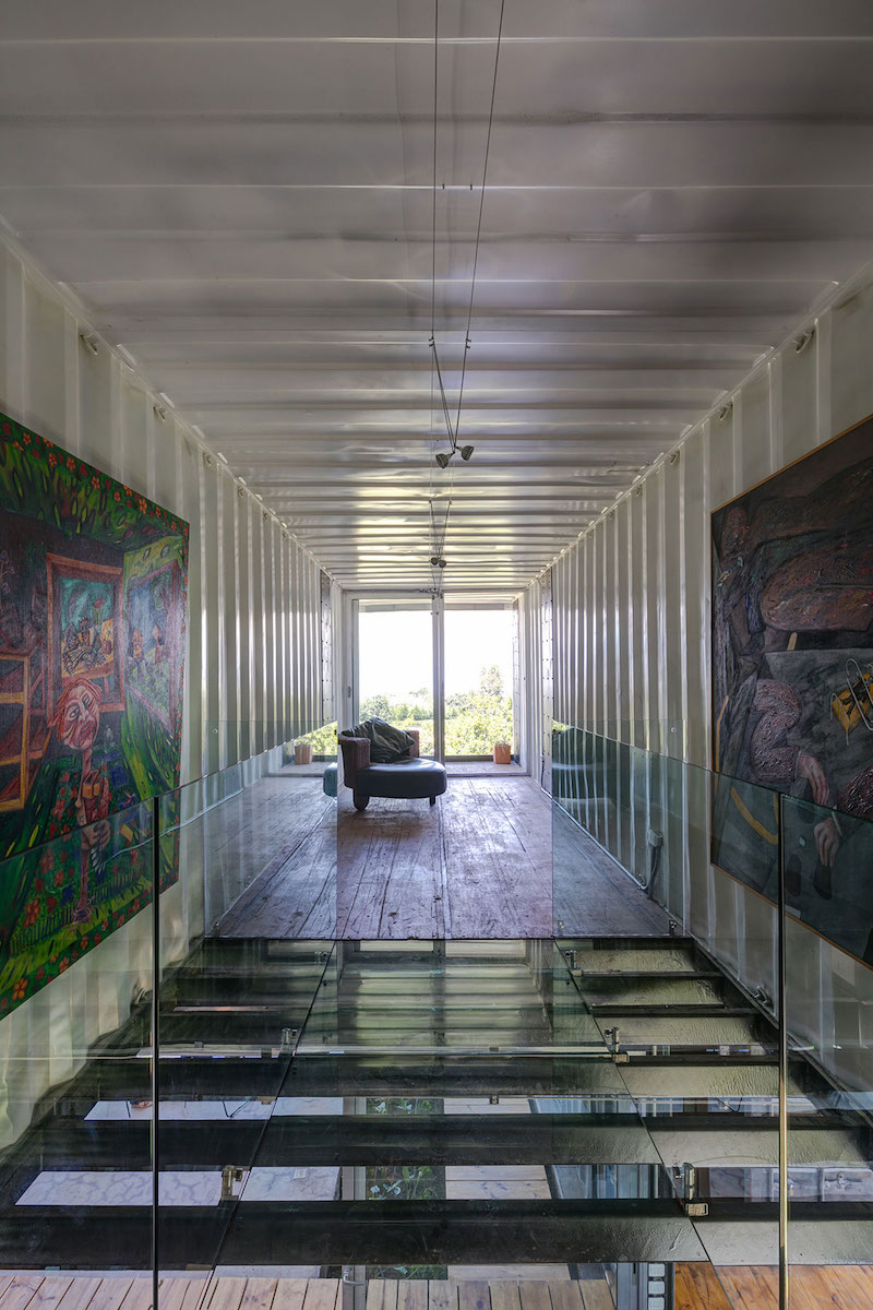 The RDP House glass wall and floor
