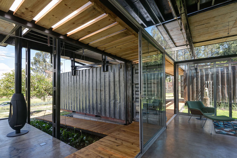 The RDP House glass walls
