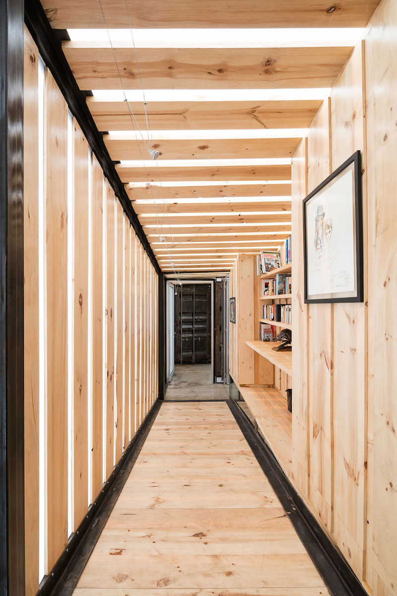 The RDP House wooden hallway