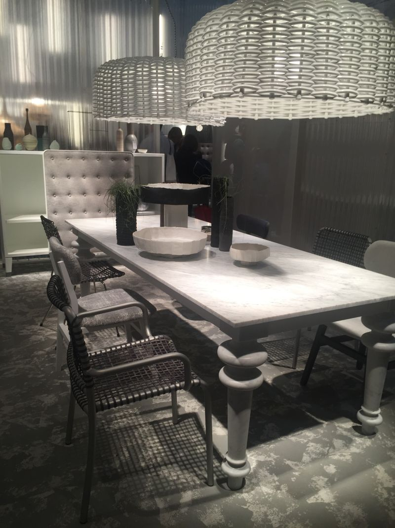 White marble meeting table combined with - Traditional Farm Dining Table With Marble On Top And Large Legs