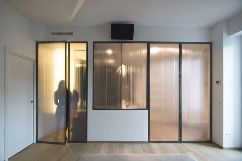 Turin apartment glass doors