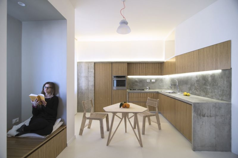 Turin apartment kitchen L shape