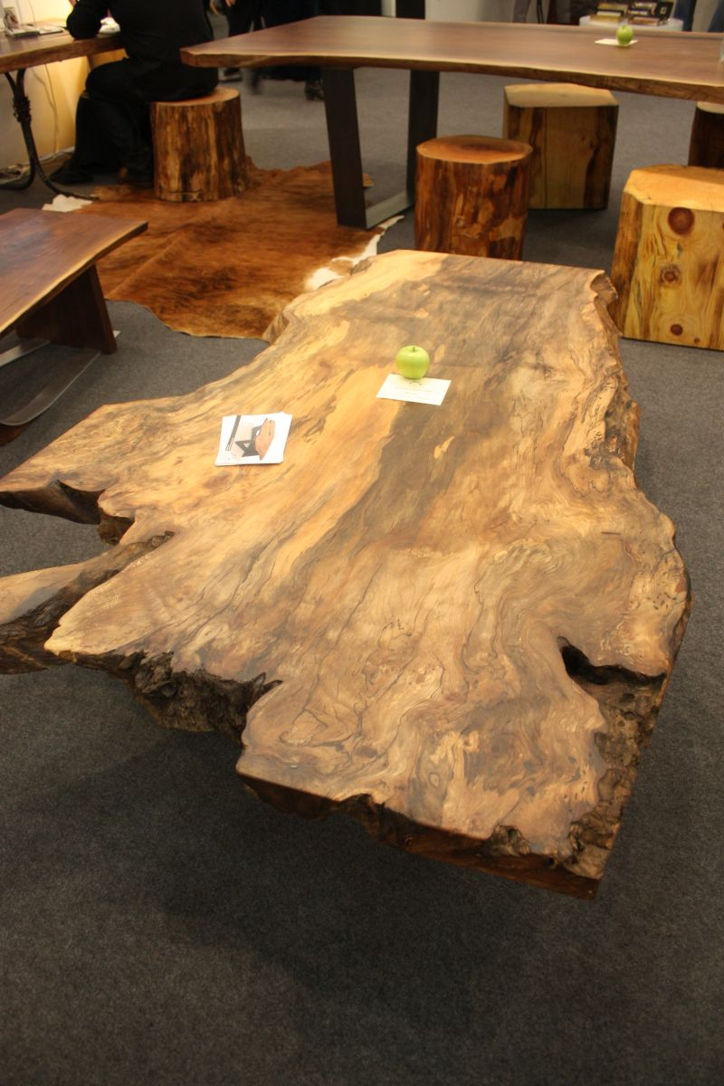 Unfinished Wood Slab Coffee Table