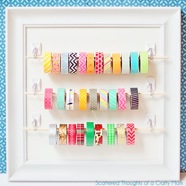 Wall washi tape hanger