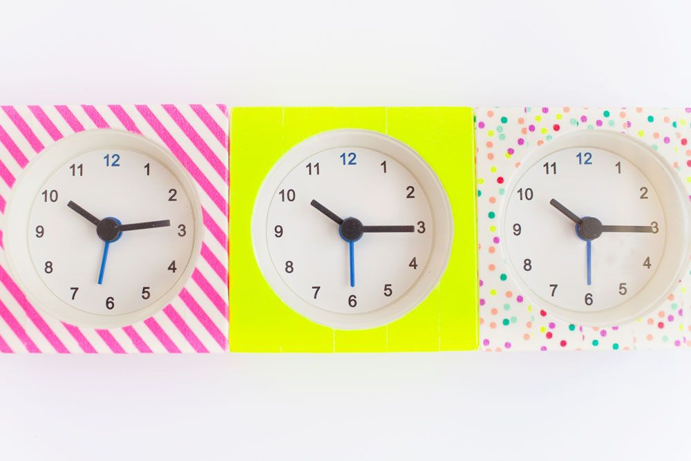 Washi tape alarm clocks
