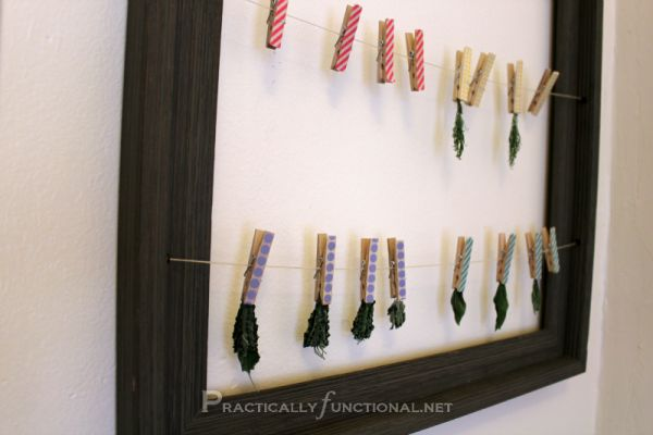 Washi tape clothes hanger to hang