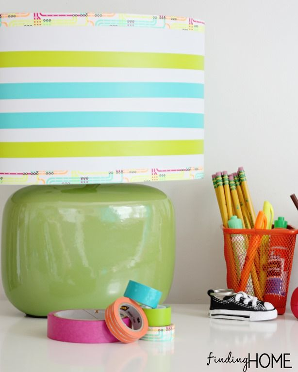 Washi tape craft lamp