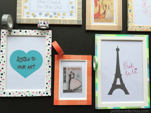 Washi tape frames to decorate