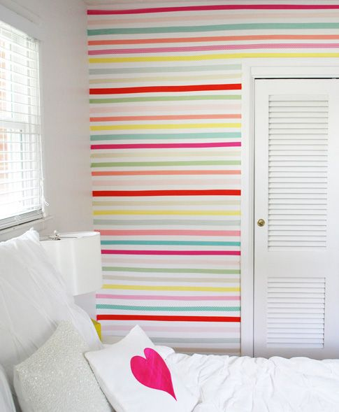 Washi wall decor