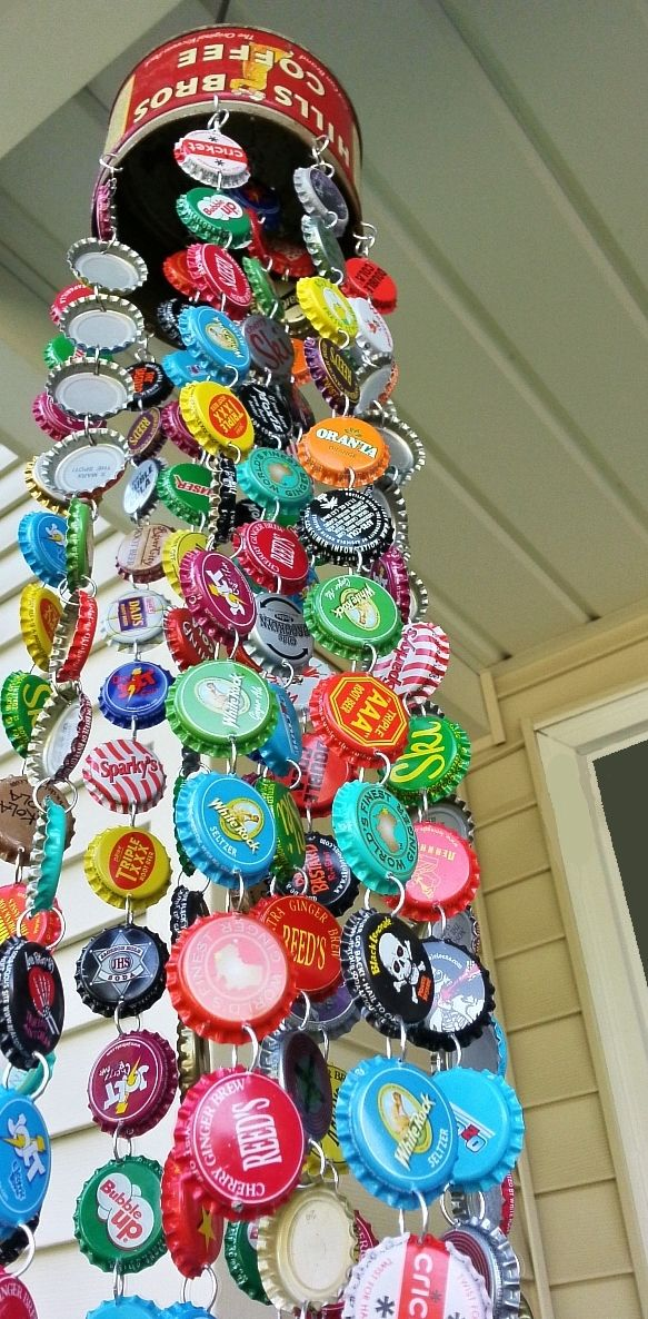 Wind chime from bottle caps