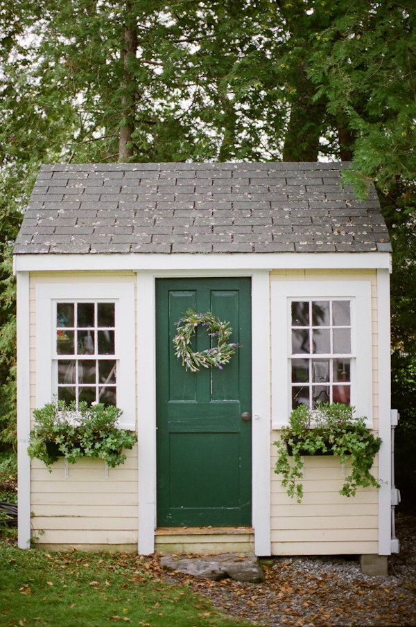 Window boxes shed