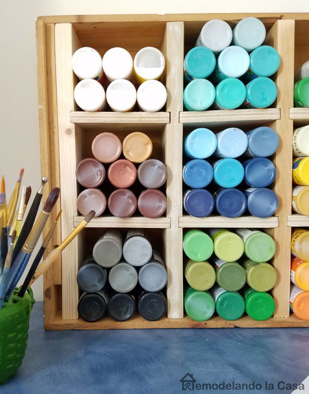 Wine craft storage - spray painters storage