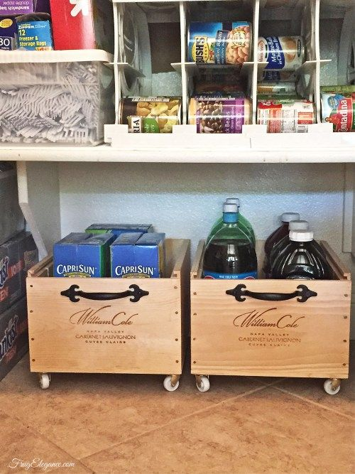 Wine crate rolling storage