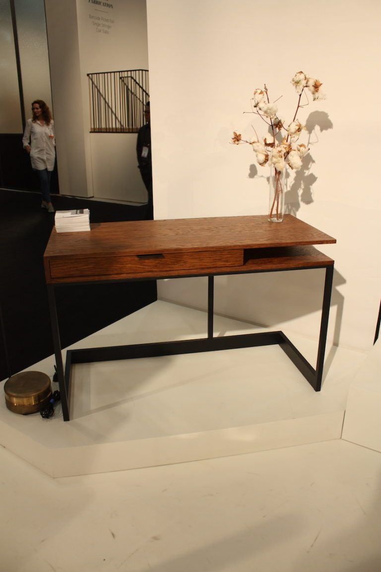 Wishbone drawer desk in English brown oak.