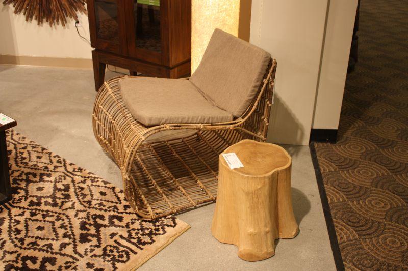 Wood Log Used Like A Small Coffee Table