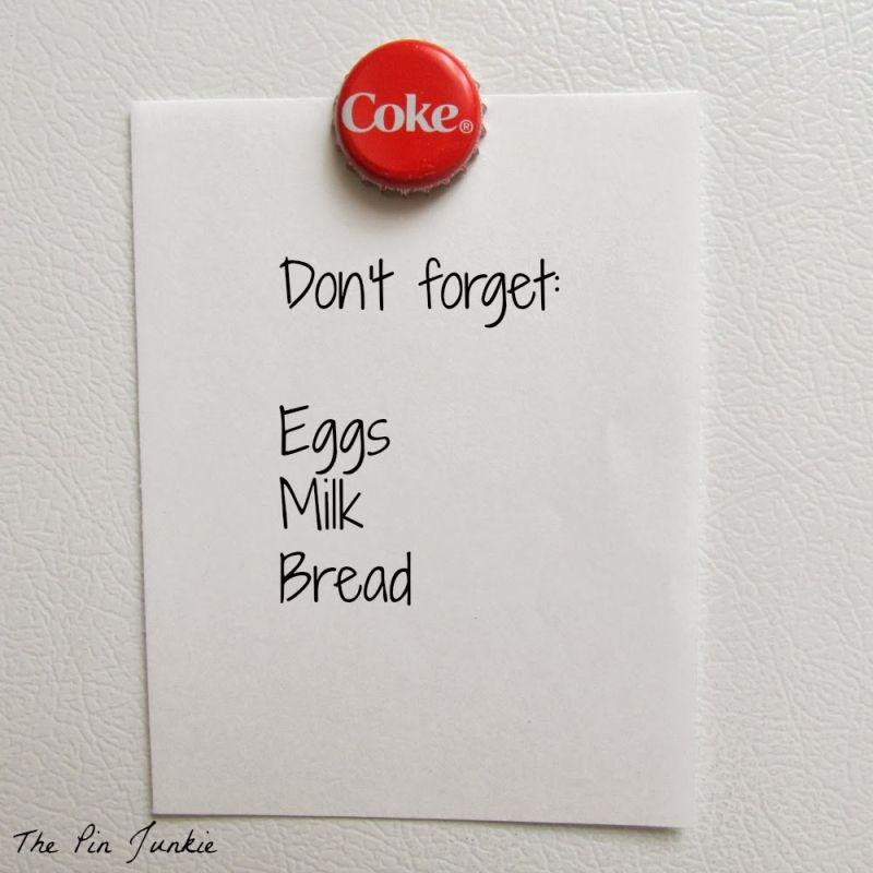 bottle cap refrigerator magnet