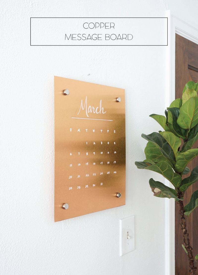copper wall calendar