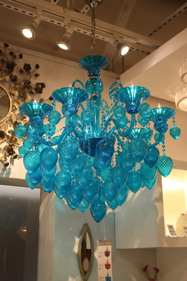 cyan design blue chandelier