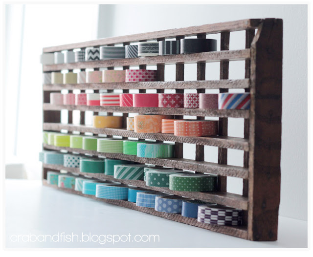 floor grate washi tape organization