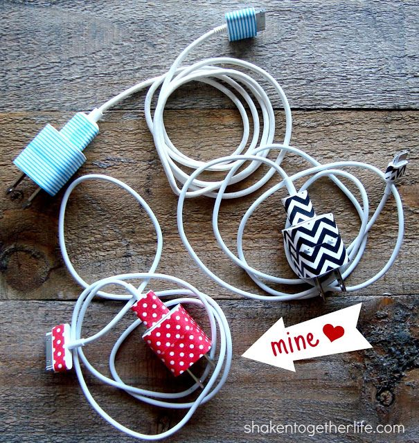 washi tape iphone chargers