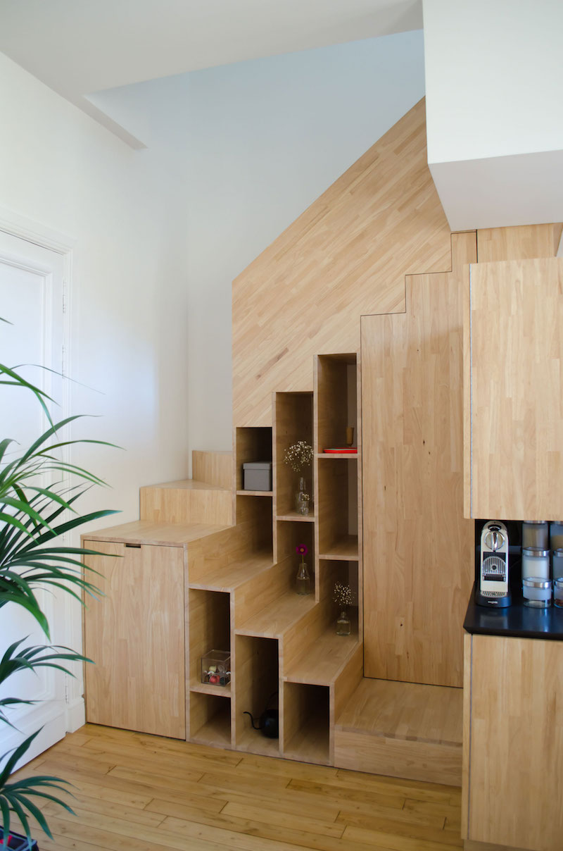 A big Little nest staircase storage