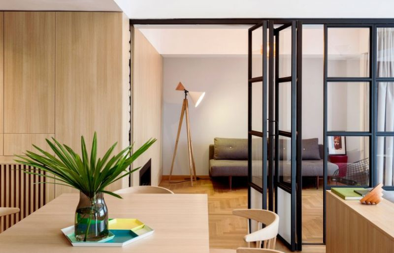 Apartment M in Bucharest folding partition
