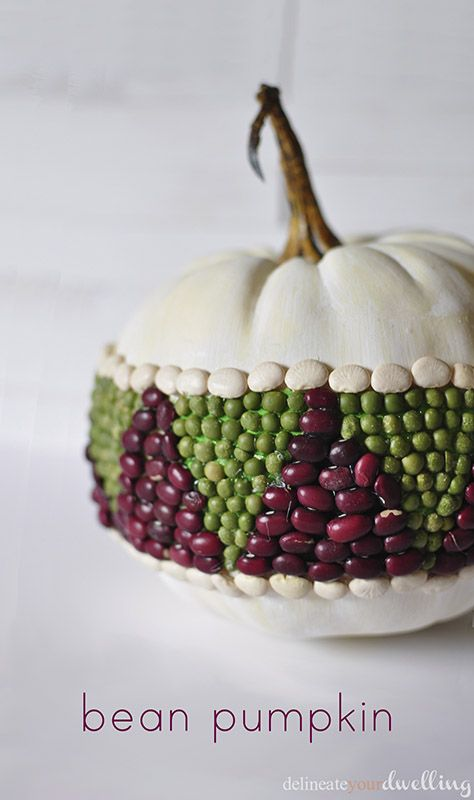 Bean pumpkin craft