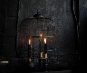 DIY Some Versatile Black Halloween Candle Holders