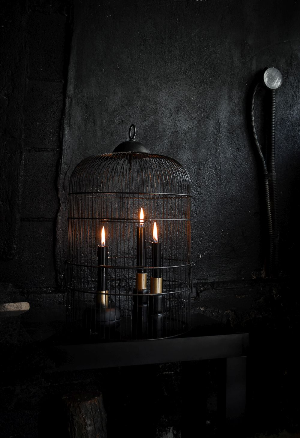 Black Halloween Candle Holders Wire
