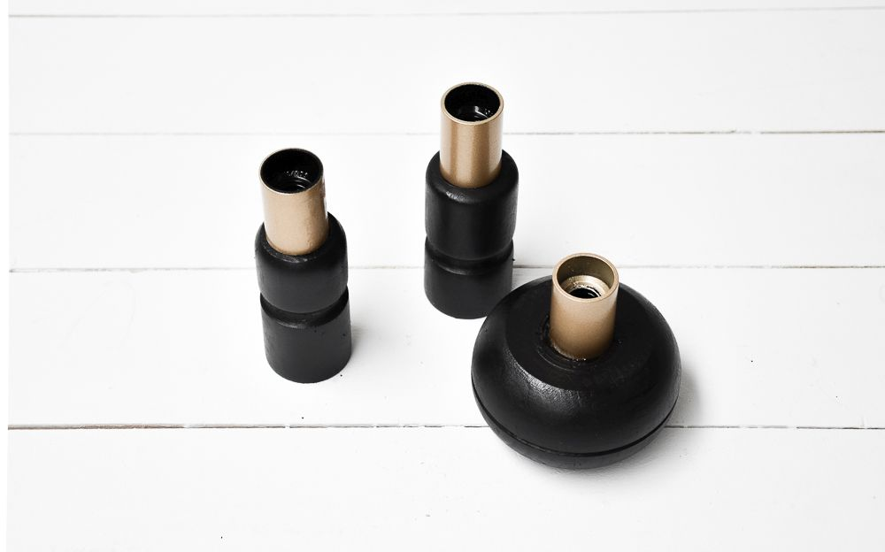 Black Halloween Candle Holders -fix