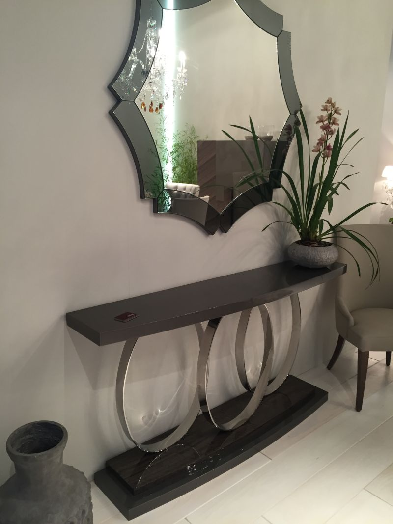 Black And Silver Masculine Console Table