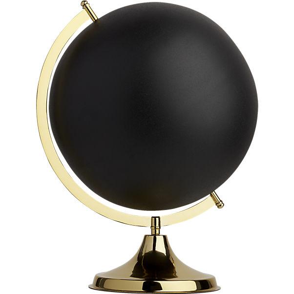 Black brass globe