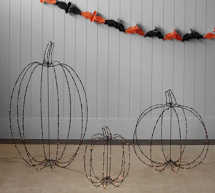 Black lit pumpkins