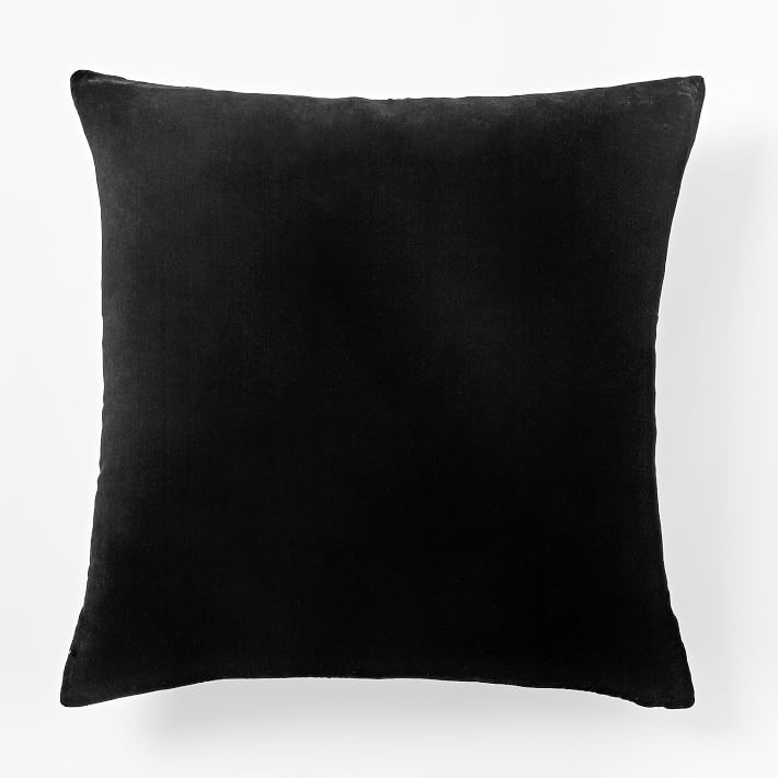 Black velvet pillow