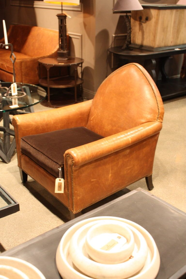 Bobo peaked back leather chair