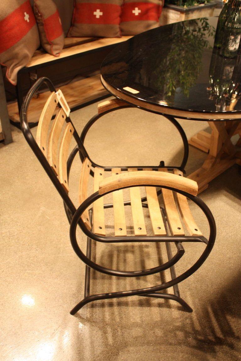 Bobo swirl arm metal chair
