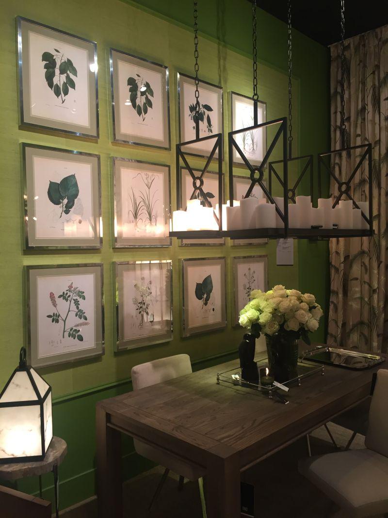Botanical frames on wall