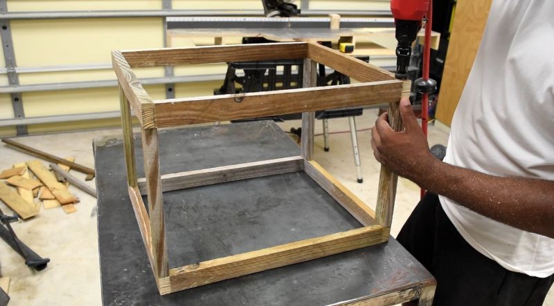 Build the planter frame