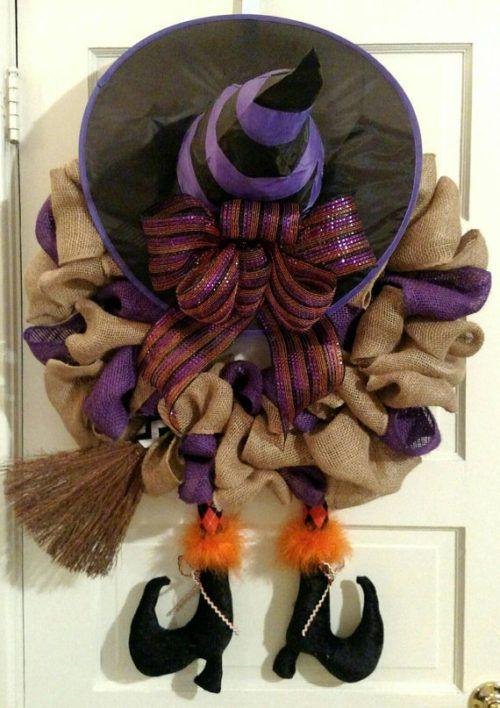 burlap-halloween-witch-wreath