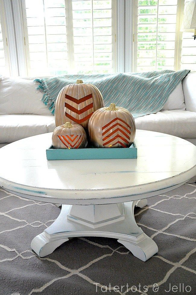 Chevron pumpkin carvin