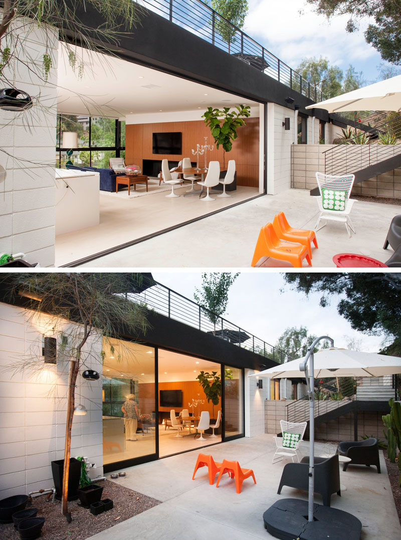 Clea House courtyard lounge