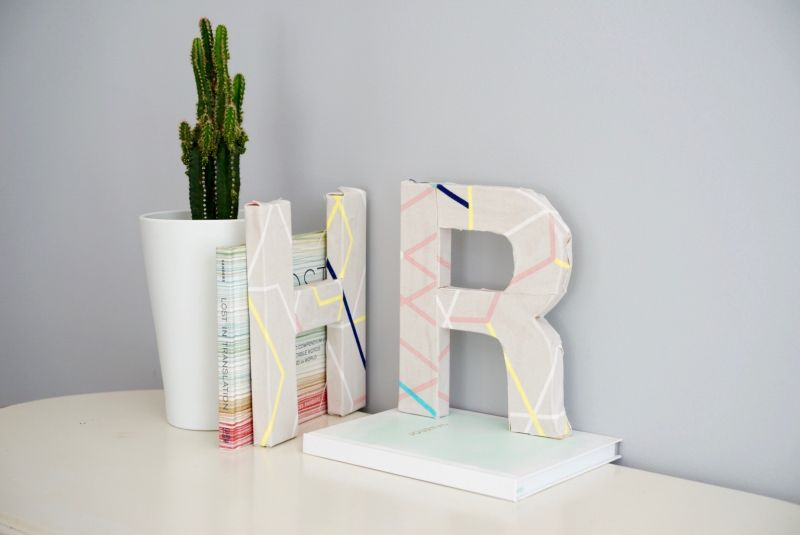 Colorful DIY Fabric Covered Letters Craft