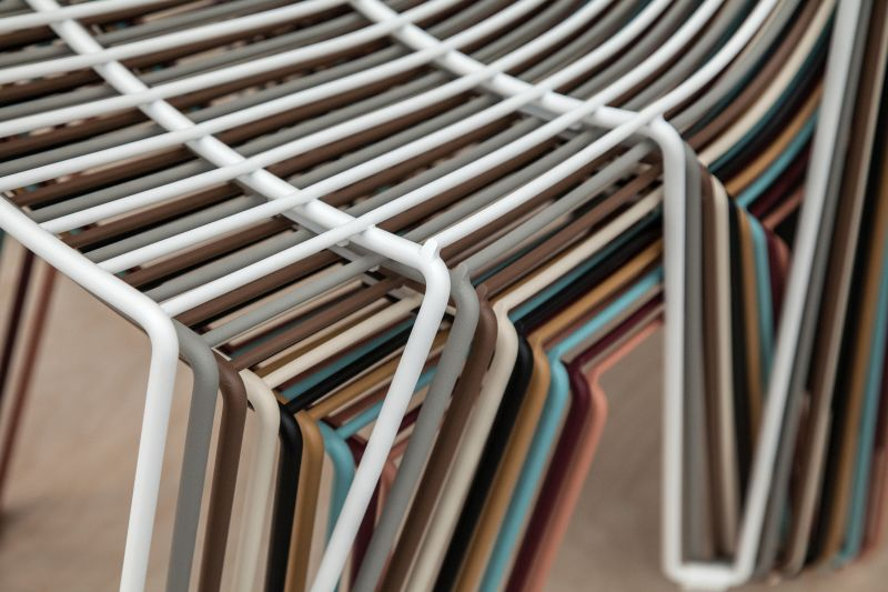 colorful-wire-stacked-chairs-for-small-spaces