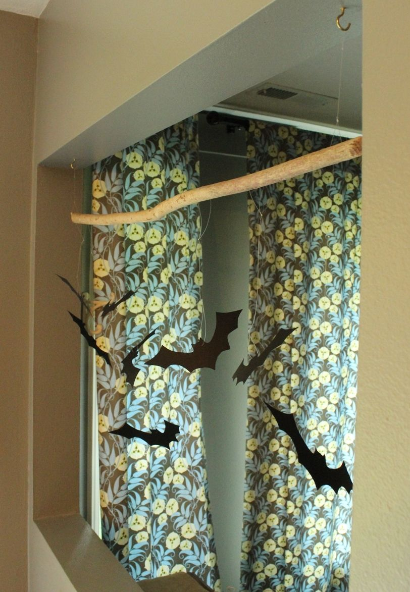 DIY Bat Branch - Craft Project for Halloween