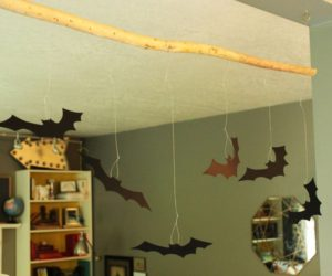 DIY Bat Hanging Branch – A Super Simple Halloween Decoration